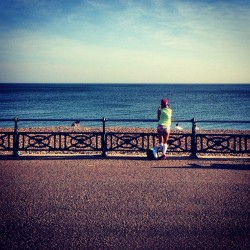 Another bright Spring day in Brighton.  (at Hove Lawns)