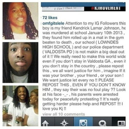 blackgirlwhiteboylove:  yabadabadobitch:  #Repost that's sad smh  The police claim that his death was accidental. But the pictures of his body make it more than obvious that he was beaten to death. On top of that, his parents were arrested for peacefully protesting… What is wrong with this country?