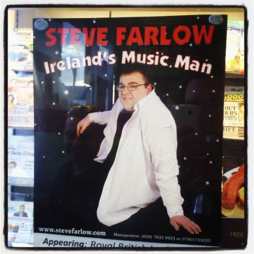 Irelands Music Man? I've never heard him but I'm pretty sure hes not. Was there a vote? I wasnt consulted anyway #music #musician #meme #mememe #stevefarlowe #poster #ireland #man #musicman #seriously #vote #wtf #crazydiscostu #projectphoenix #igersdaily #ig_ire  (at Groomsport Boathouse)