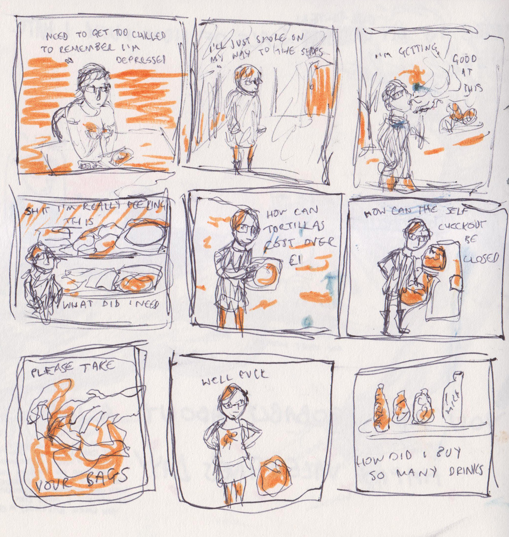 aaaand apropos of nothing, THIS is a comic about what i imagine going to the supermarket stoned might be like except obviously i don't know because i don't use illegal drugs ever obviously