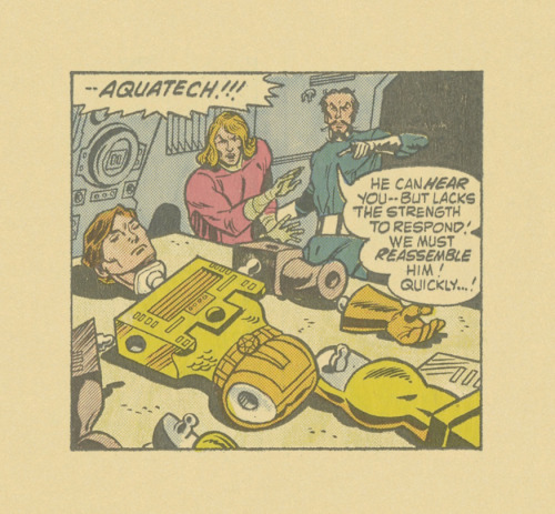 ISOLATED COMIC BOOK PANEL #290title:  MANTECH #4- P17:4artists: DICK AYERS, CHIC STONE year: 1984