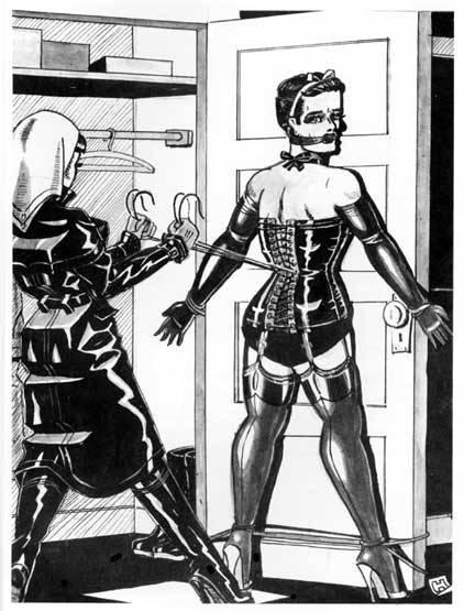Man in corset&#8230
