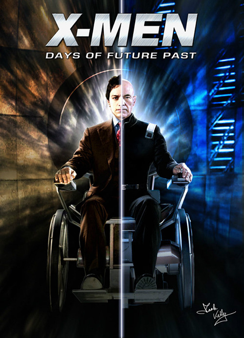 roguemarch:   Brilliant 'X-Men: Days of Future Past' Poster For James McAvoy & Patrick Stewart's Professor X (Fan-Made)   eeeeeeeeeeeeeeek! it's amazing!