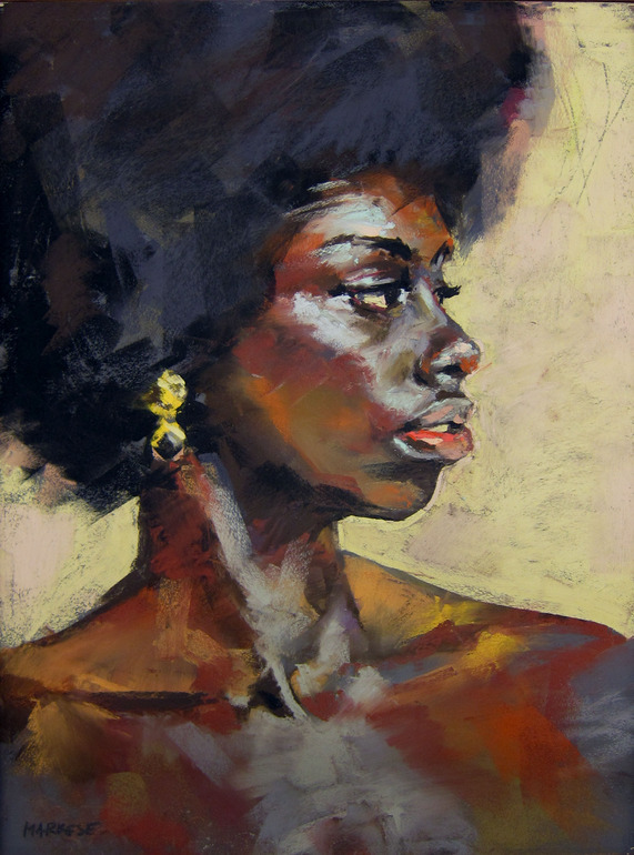 "felixinclusis:  missanyanwu: ""A Gold and Onyx Earring"" John Markese"