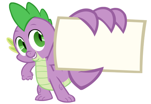 discord-chan:  Spike Vector! DeviantArt Timelapse I didn't put in the drawing, so you can make it say whatever you want!
