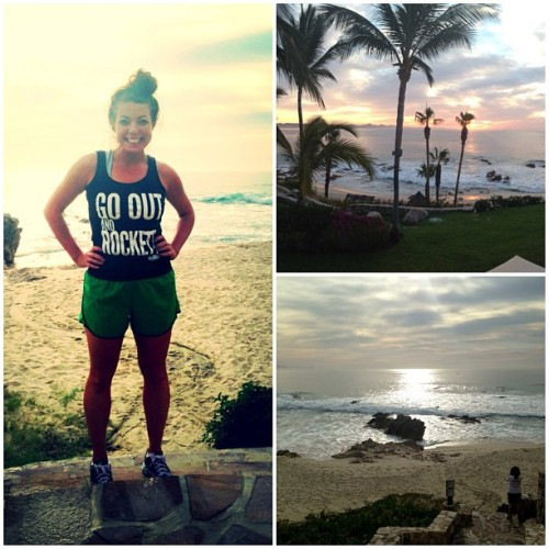 Stunning sunrise and great #gorockett workout in #cabo at #oneandonly #palmilla with @rockettnet :) (at One&Only Palmilla)