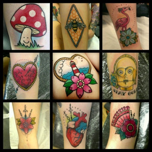 It was about a year ago that I began tattooing little bits n pieces, that time has gone so fast, I still know nothing!! Haha. Thankyou to all my wonderful customers and all that follow my work, I have luff for you all :) #artist #tattoos #art #customtattoos #funstuff #thankyouuu #iguk #instagood #igers