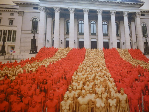 Spencer Tunick - 1700 Germans standing in front of Bavarian State Opera - on exhibit now at www.bayerische.staatsoper.de/ but photographed June '12