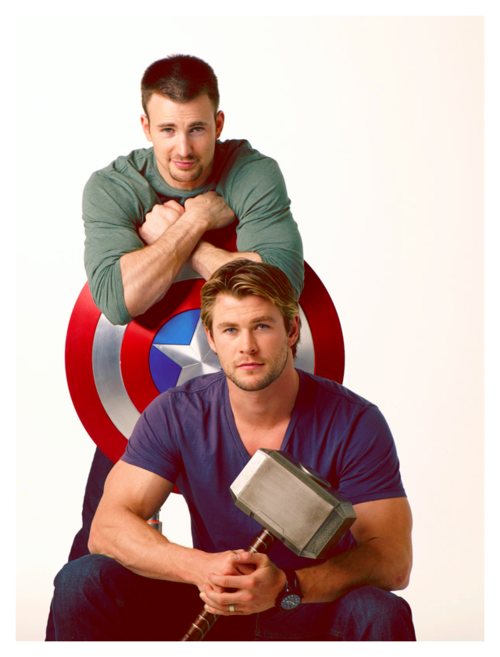 burleighbro:   Chris Evans Can Set Me on Fire (Fantastic Four) … and Chris Hemsworth Can Hammer Me Mercilessly (Thor)