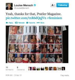 Louise Mensch tweets her objection to Tatler's feature on the best posh breasts. Today on Cif Alexandra Jones argues that the magazine has not gone tits up.