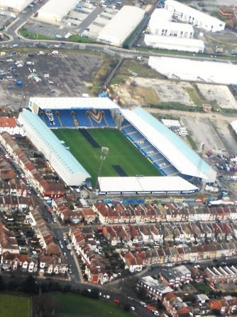 Fratton Park, Portsmouth. http://david-europeanexplorer.blogspot.co.uk/2013/05/fratton-park-portsmouth.html
