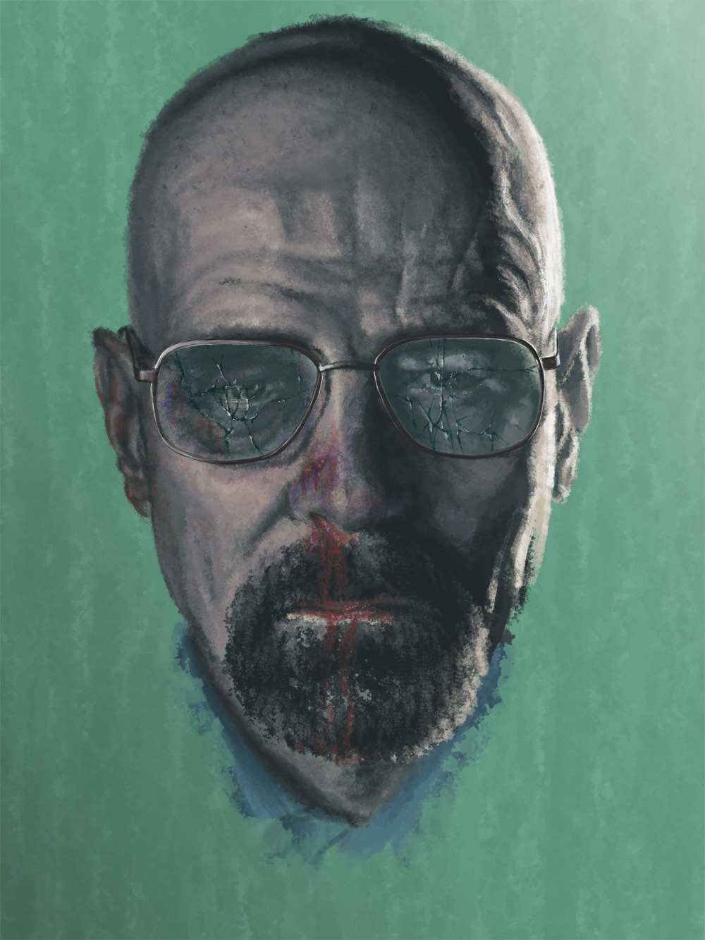 Bryan Cranston as Walter White #BreakingBad #bcotmedia students - remember you can use The Dairy and the Art Department to create your posters and viral campaign art-work.