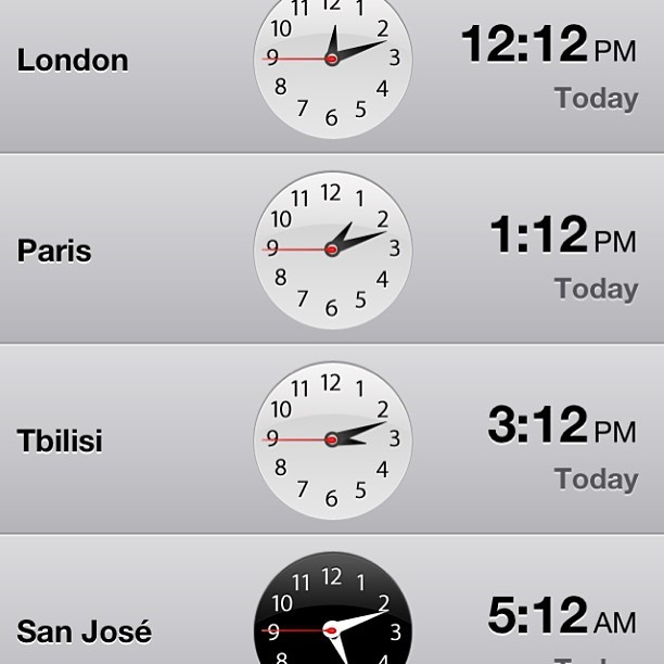 Keeping track of my friends #time #friends #france #england #georgia #costarica #vegan #vegansofinstagram