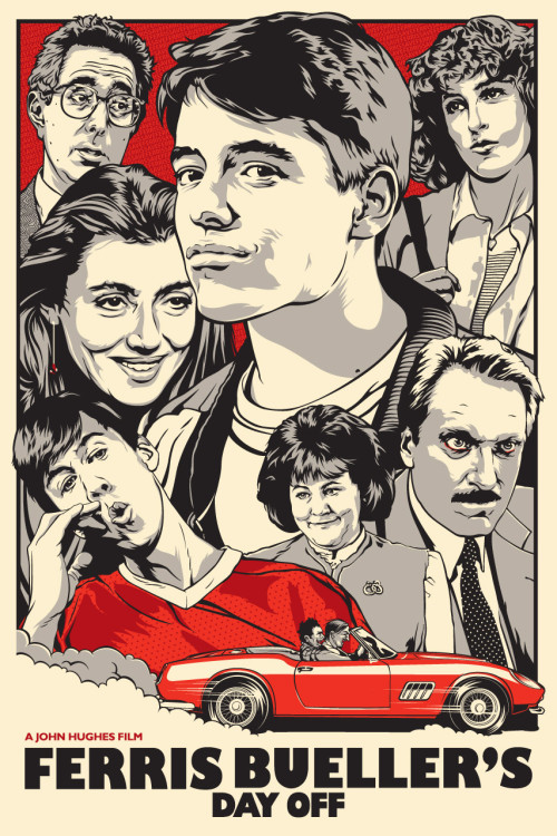 Movie Poster Porn Monday: Ferris Bueller's Day Off (by Joshua Budich)