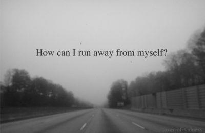 wheredreamsdwell:  run away | via Facebook on We Heart It. http://weheartit.com/entry/60098933/via/BlackAndWhiteSmiles