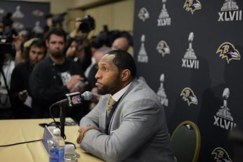 Ray Lewis speaks on Super Bowl Media Day