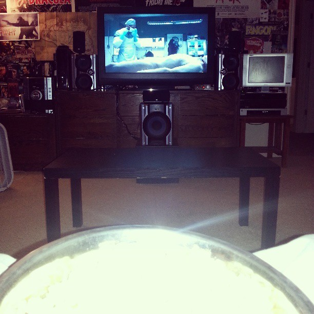 Popcorn and Saw IV… not a bad way to end the weekend