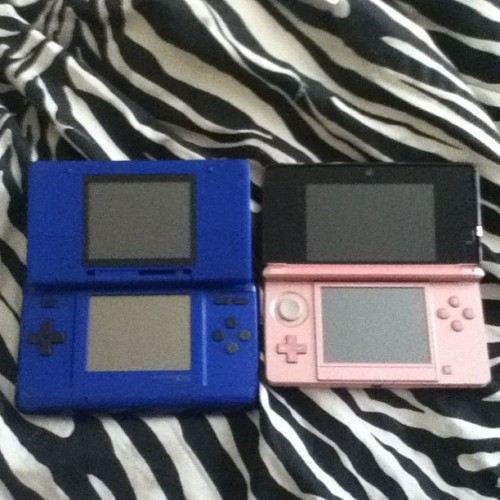 The 1st DS that came out and a 3ds.