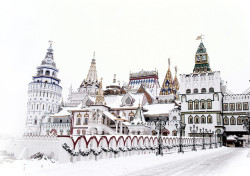 villesdeurope:  Winter in Moscow, Russia