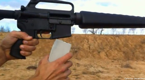 "The End of Gun Control: Wiki Weapon Inventor Demos ""Cuomo"" 3D Printed High-Capacity Magazine  Defense Distributed, the Austin, Texas-based project by 24-year-old law student Cody Wilsonand several others to develop 3D printed firearms and firearm components, or ""Wiki Weapons,"" on Thursday posted a new video online showing a successful test firing of a new 3D printed high-capacity (30-round) automatic rifle (ArmaLite, or AR) magazine, named ""Cuomo,"" after New York State's gun-control supporting governor Andrew Cuomo. New York recently passed a law banning all magazines in excess of 7 rounds (except for law enforcement use), the nation's toughest magazine regulation. ""He [Cuomo] wants to be associated with these magazines,"" Wilson told TPM, reached by phone on Thursday. ""Lets make that association permanent.""  (via Defense Distributed's New 3D Printed High Capacity Gun Magazine 'Cuomo' (VIDEO) 