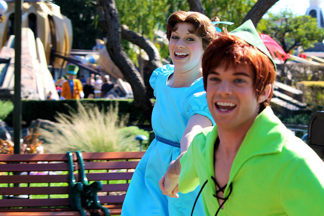 Peter Pan and Wendy by snow1937white on Flickr.