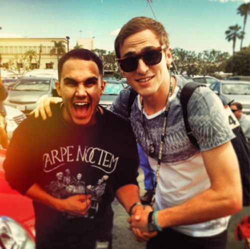 "kendork-schmidt:  @HeffronDrive: ""El director"" :) Me standing with the multi-talented director of this weeks episode @therealcarlospena Very cool!"