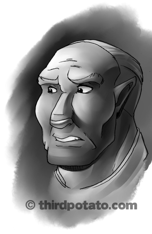 30 min speedpaint in SAI of Jakob Knochenmus. Lineart with .5mm pencil
