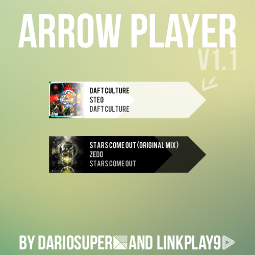 Arrow Player for Rainmeter [By Dariosuper] v1.1 by ~LinkPlay9 *to use this on your windows, read this.