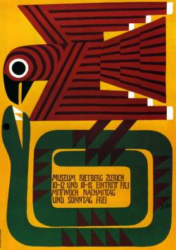 Poster for Museum Rietberg Zürich (1952). Design by Ernst Keller. Found here.