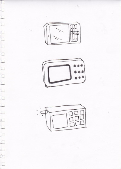 these are the some of the drawing we came up with the phone idea we think we will us the one on the right hand side.