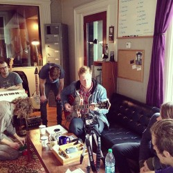 themaineband:  Overdubbing more guitars!