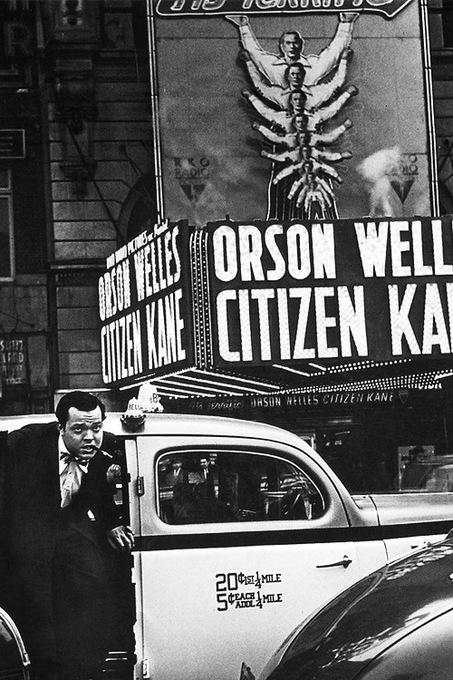 Orson Welles at the premiere of Citizen Kane, 1941.
