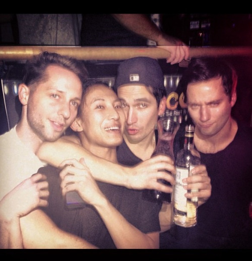 rickowensme:  Jack, Lazaro, Alex, and that one annoying fashion guy
