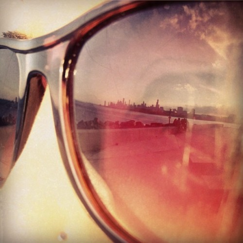 my-life-ambition:  I see you #chicago #skyline #sunglasses #shades #eye #nosepiercing #reflection photocred: @allenlloyd