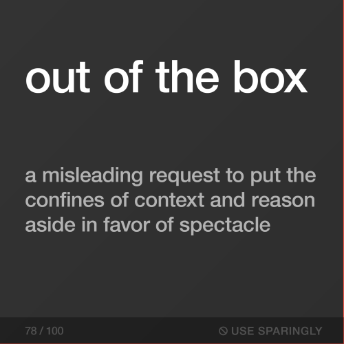 Out of the box.