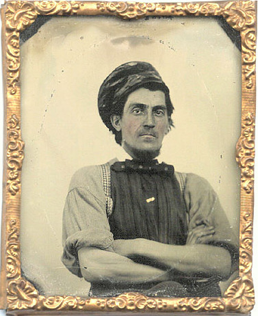 ca. 1860's, [ambrotype portrait of a laborer] via Christopher Wahren Fine Photographs, Skylight Gallery
