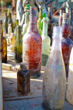 inderzzz:  Antique Bottles washed up on the shore. Port Townsend, WA