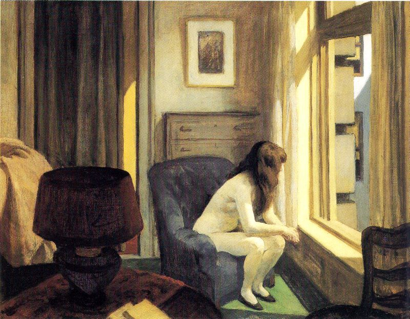 It's an Edward Hopper kind of 11 am today