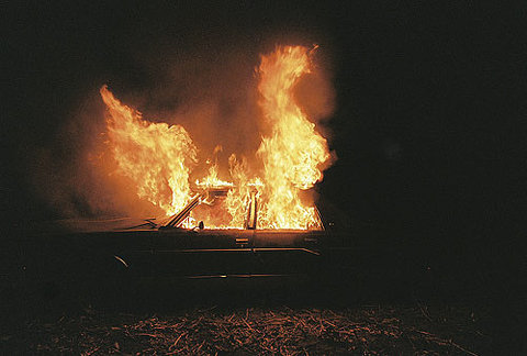 Car on fire (via FFFFOUND! | Bea Fremderman - BOOOOOOOM! - CREATE *INSPIRE * COMMUNITY * ART * DESIGN * MUSIC * FILM * PHOTO * PROJECTS)