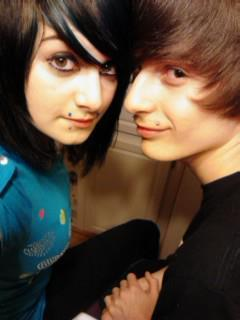 An old picture of me and my gorgeous fiance! <3