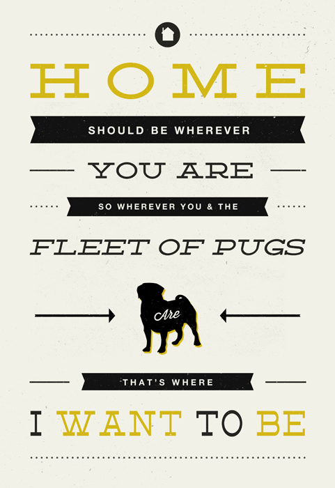 psychposters:  Serious Shawn Moment | Fleet of pugs.