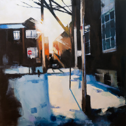 Earnscliffe morning, 36x36
