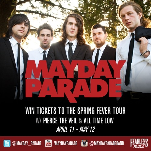 Win an autographed Mayday Parade legacy prize pack & tickets to see them on the #SpringFeverTour with All Time Low & Pierce The Veil! Enter for YOUR chance to win here: http://maydayparadelegacy.fearlessrecords.com