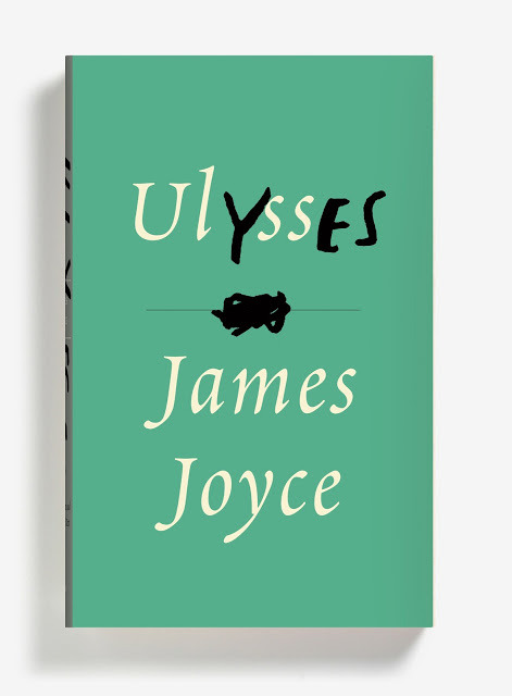 Cover for James Joyce's Ulysses by Peter Mendelsund     he was covered in the detritus of his work