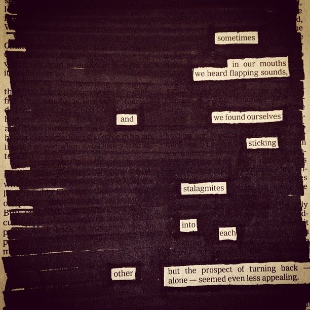 "newspaperblackout:  ""Commitment,"" a newspaper blackout by Austin Kleon"