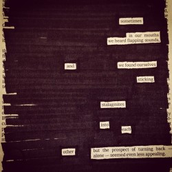 """Commitment,"" a newspaper blackout by Austin Kleon"