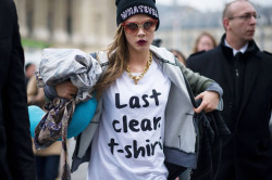 Paris Fashion Week Fall 2013; Cara Delevingne