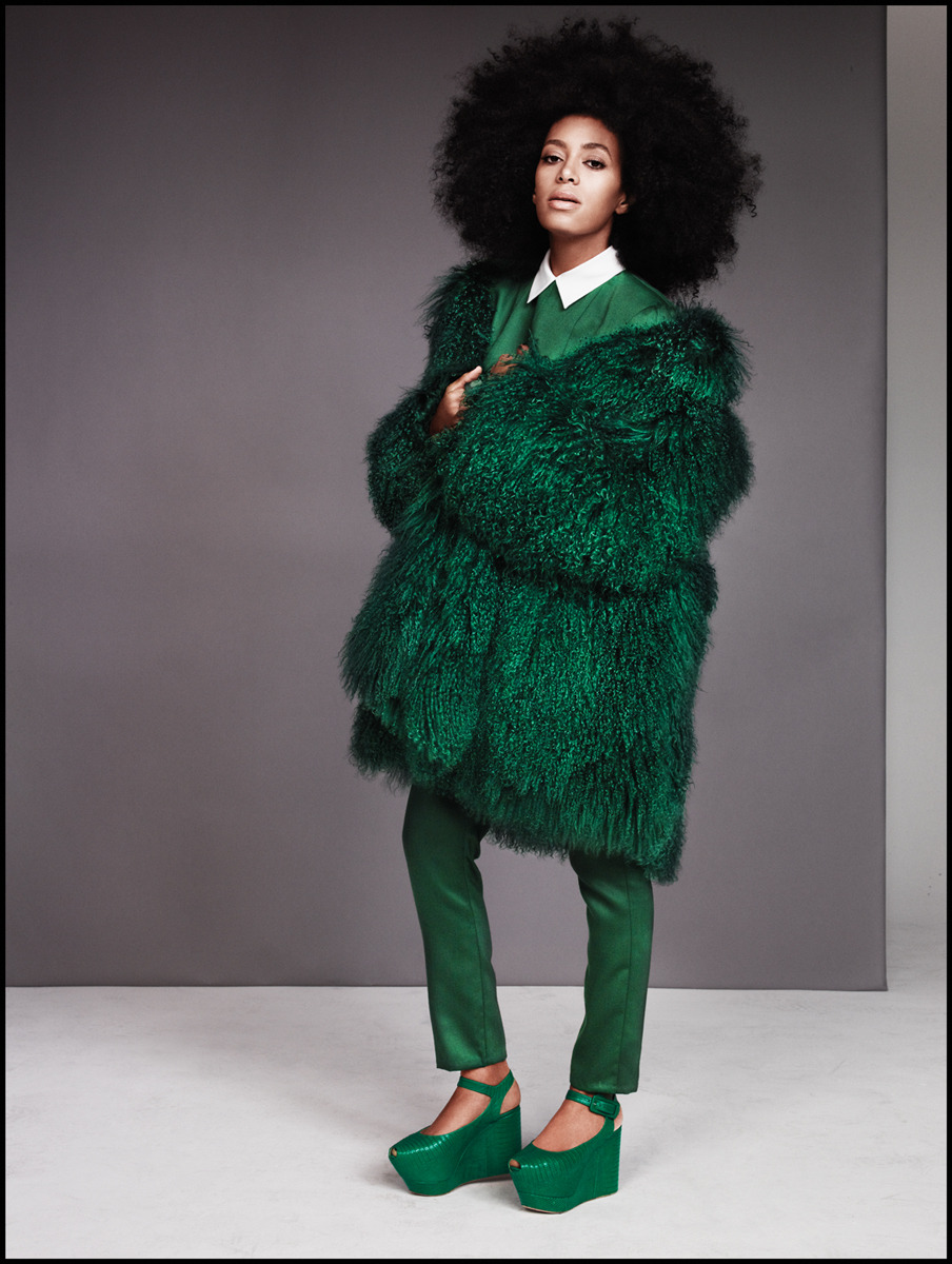 mydamnblog11:  Ruven Afanador for EW   Love! Green is the new black.
