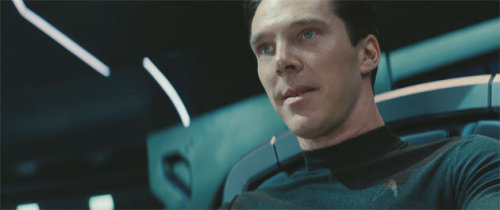 A still of Benedict Cumberbatch in Star Trek into Darkness. Anyone else as excited about this movie as I am???