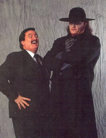 paul bearer and the undertakerUndertaker And Paul Bearer